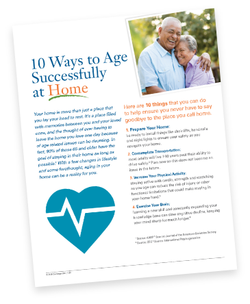10 Ways to Age Successfully at Home