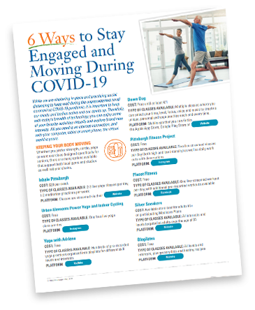 6 ways to stay engaged and moving during COVID-19